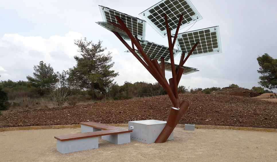 árbol fotovoltaico